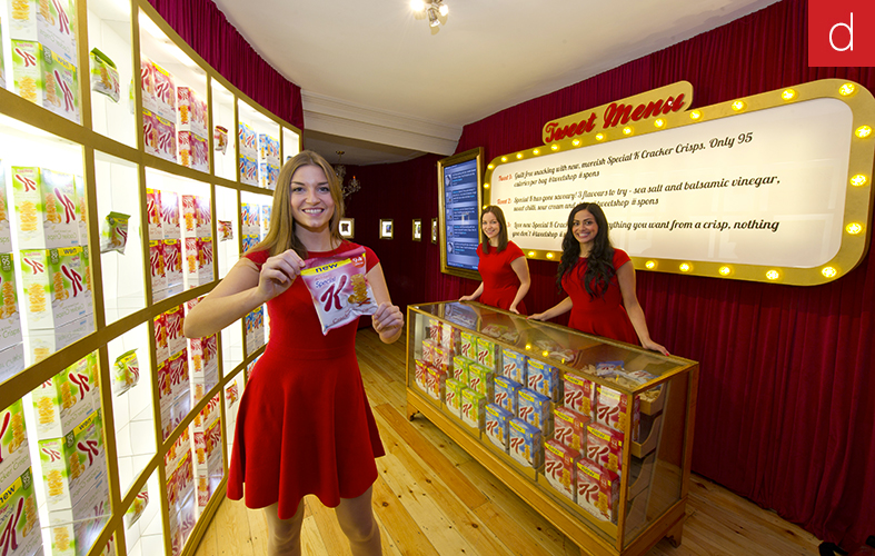 Etude de cas marketing tactile multitouch Digilor Tweetshop Kellogs