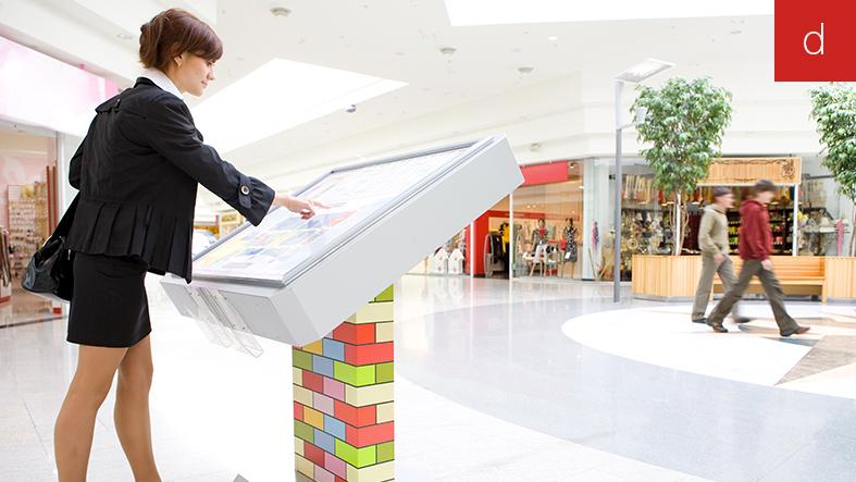 Magasin du futur borne interactive lieu de vente
