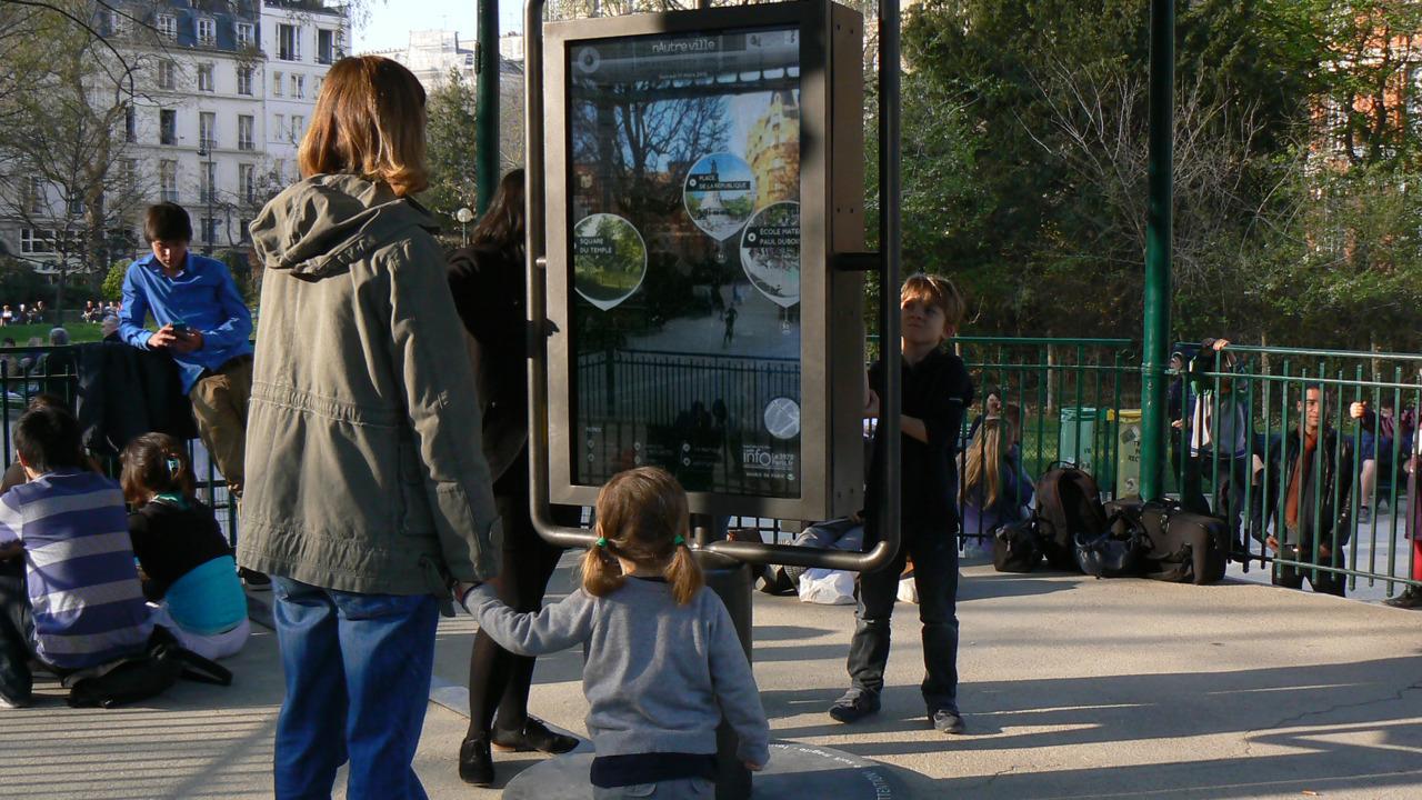 Mobilier urbain tactile projet nautreville