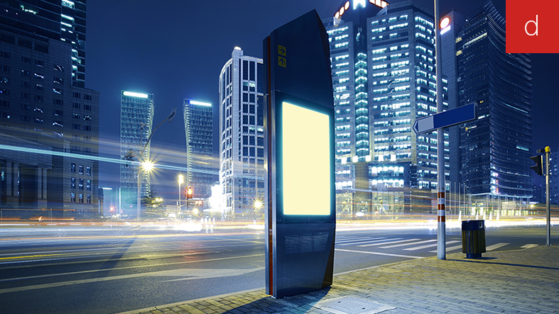 Mobilier urbain tactile totem interactif outdoor