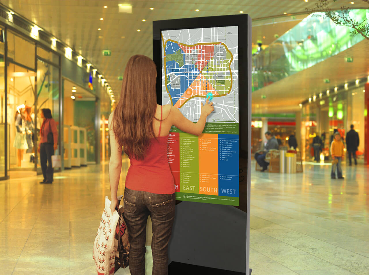 Dispositif interactif tactile wayfinder transport en commun