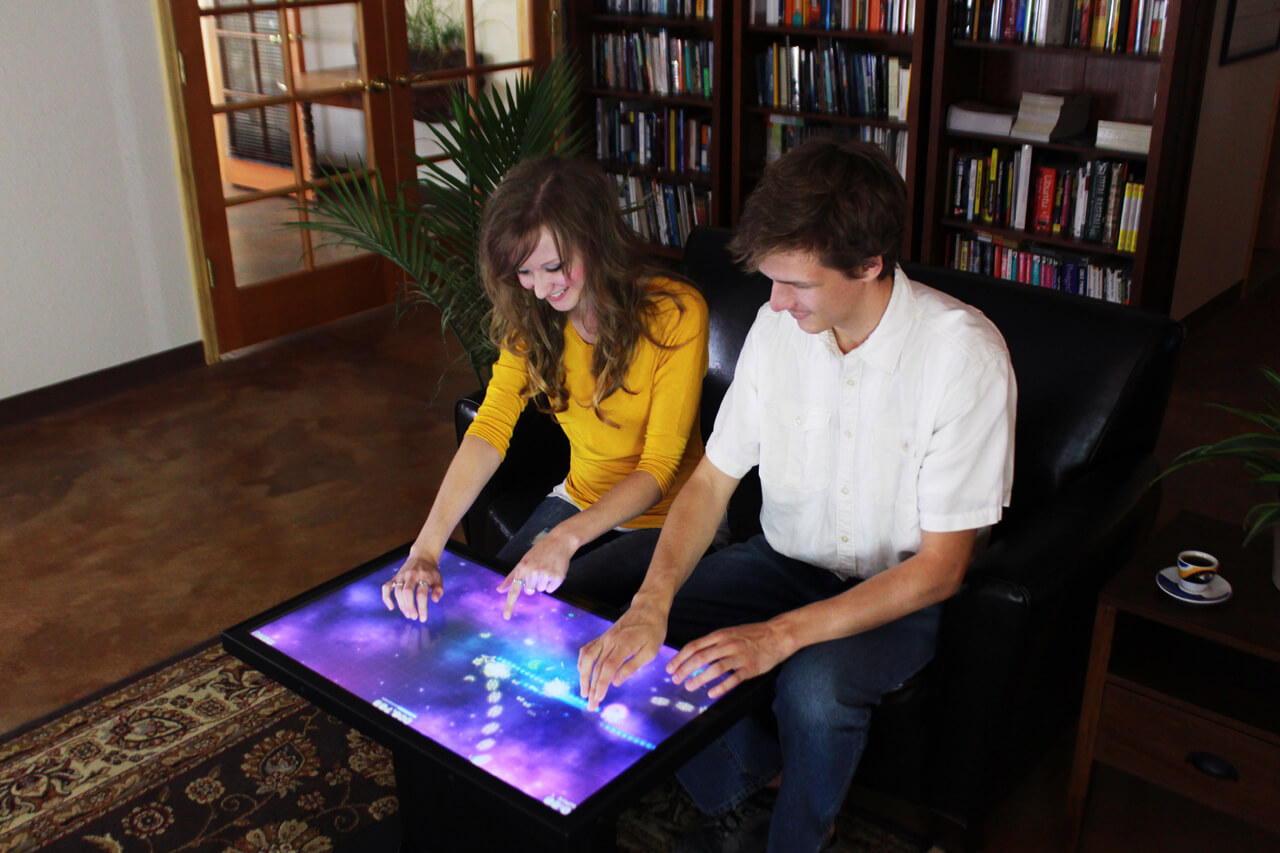 Table interactive multitouch salon particulier