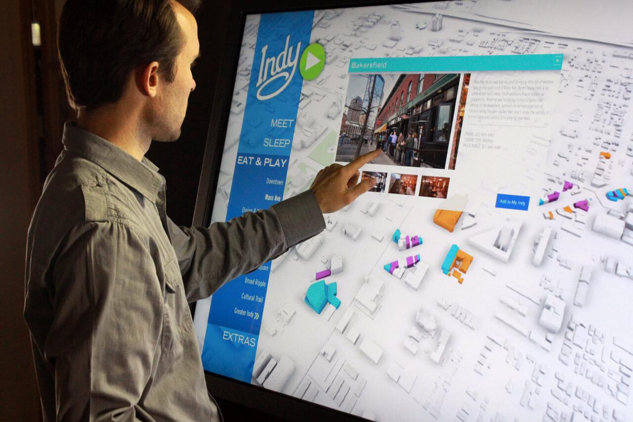 Borne tactile tourisme numérique interactif