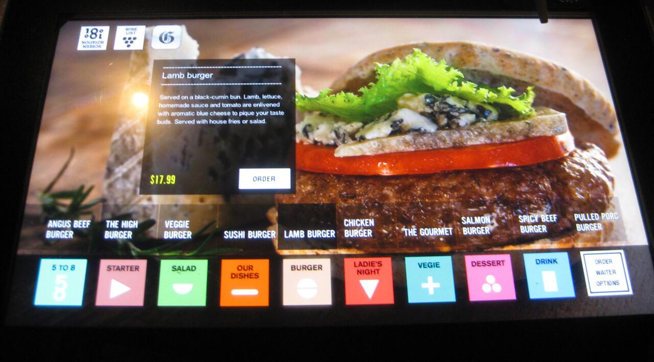 Restaurant digital écran interactif tactile