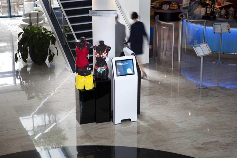 Borne interactive 22 pouces retail S centre commercial