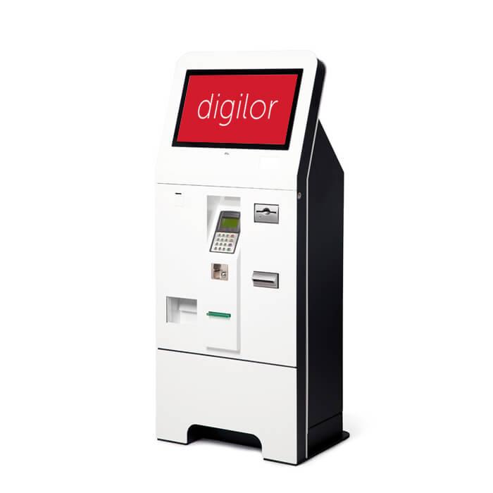 borne interactive de paiement avec tpe