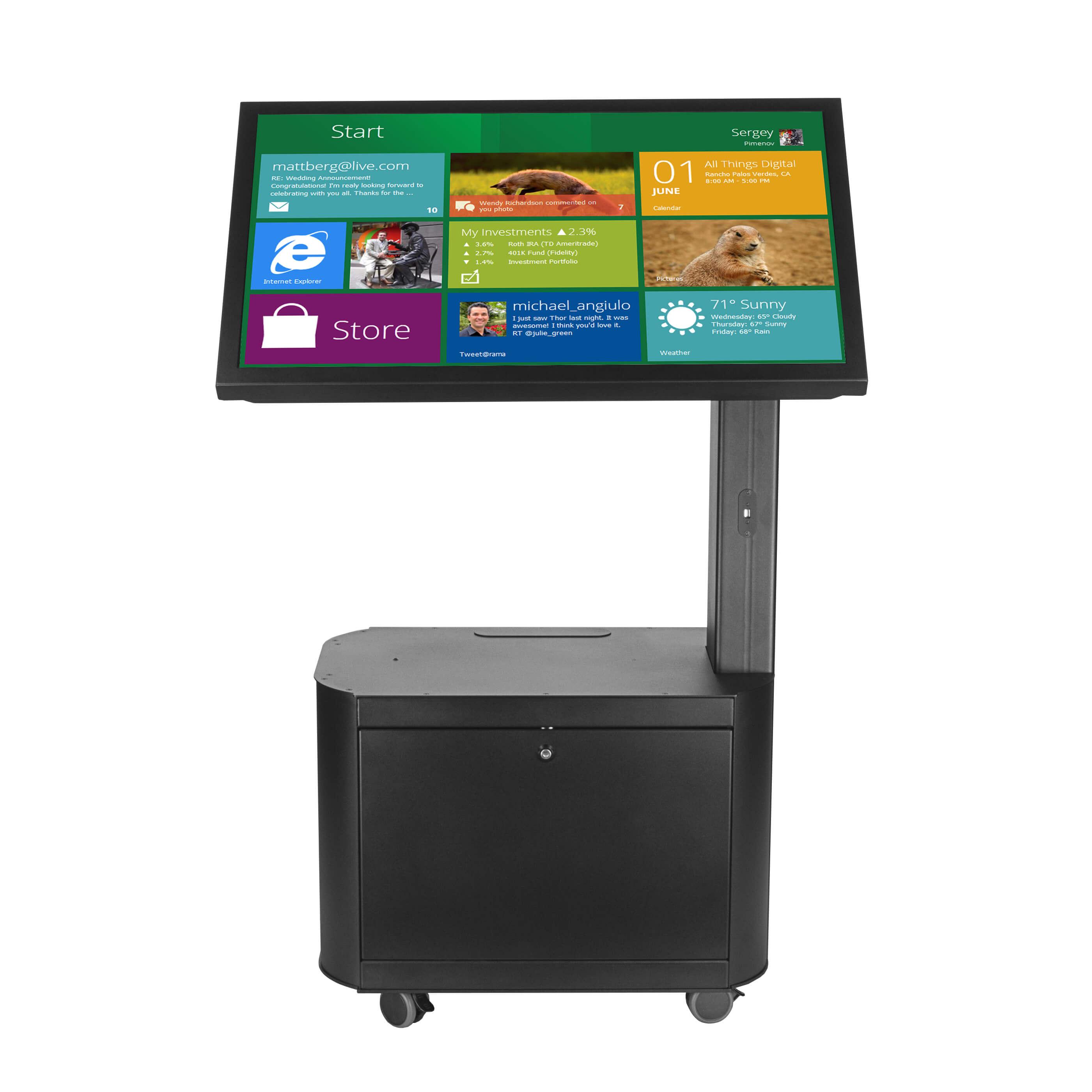 Borne interactive Philips avec imprimante écran tactile