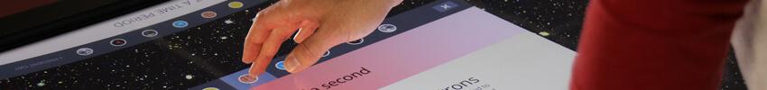 museographie digitale sur borne tactile 43 pouces