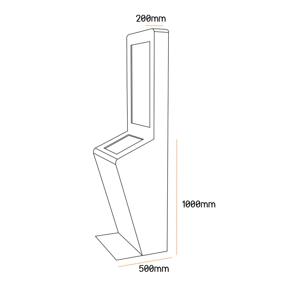 Borne tactile Duplex dimensions