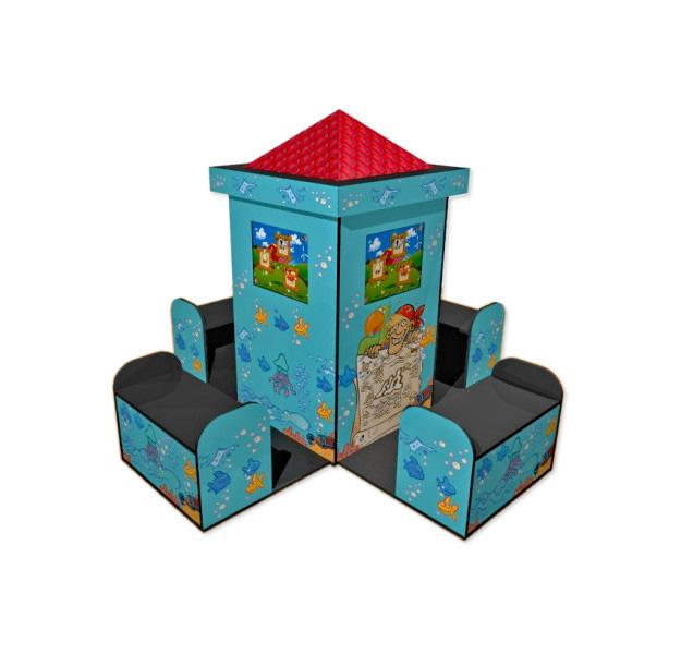 Borne tactile pour enfants chateau