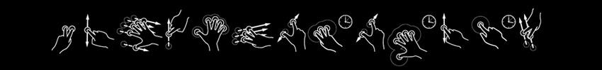 gestuelle multitouch sur borne écran tactile 22 pouces