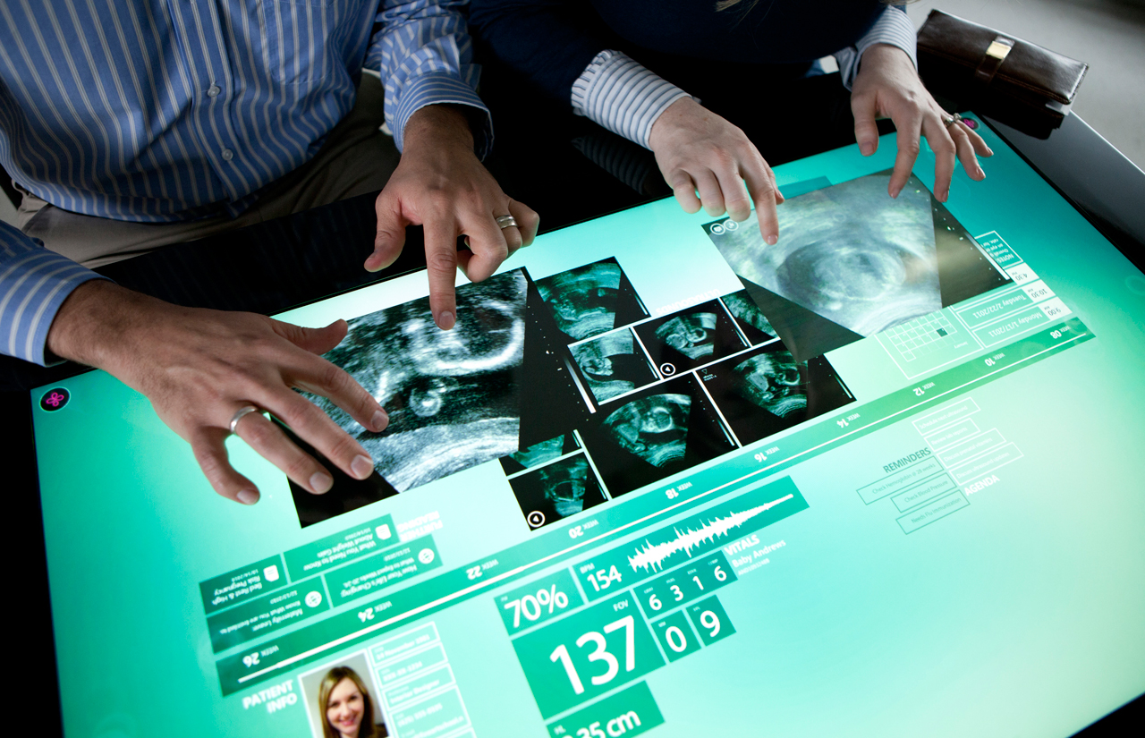 Hopital technologie tactile multitouch
