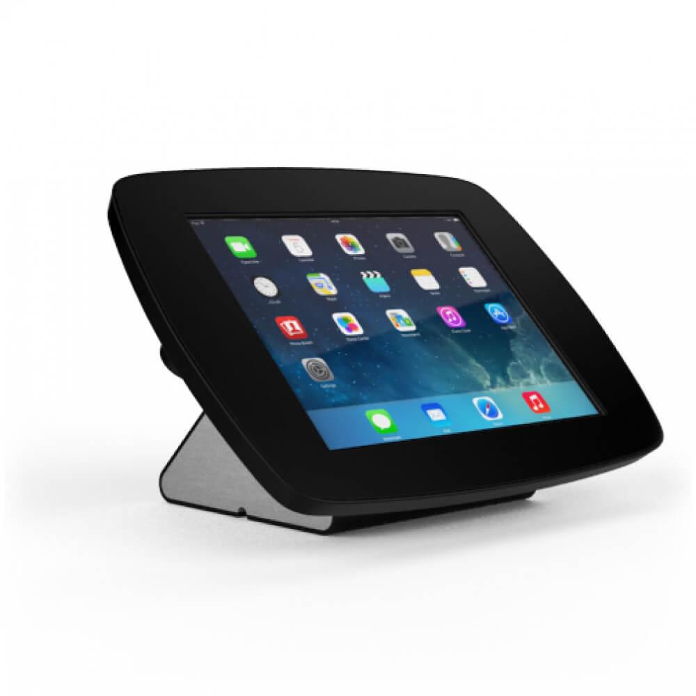borne iPad d'accueil en version noire