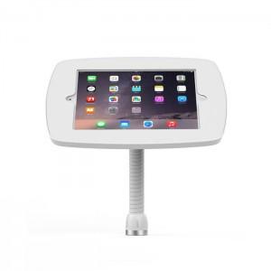 borne iPad de comptoir utilisé pour la publicité sur le lieu de vente