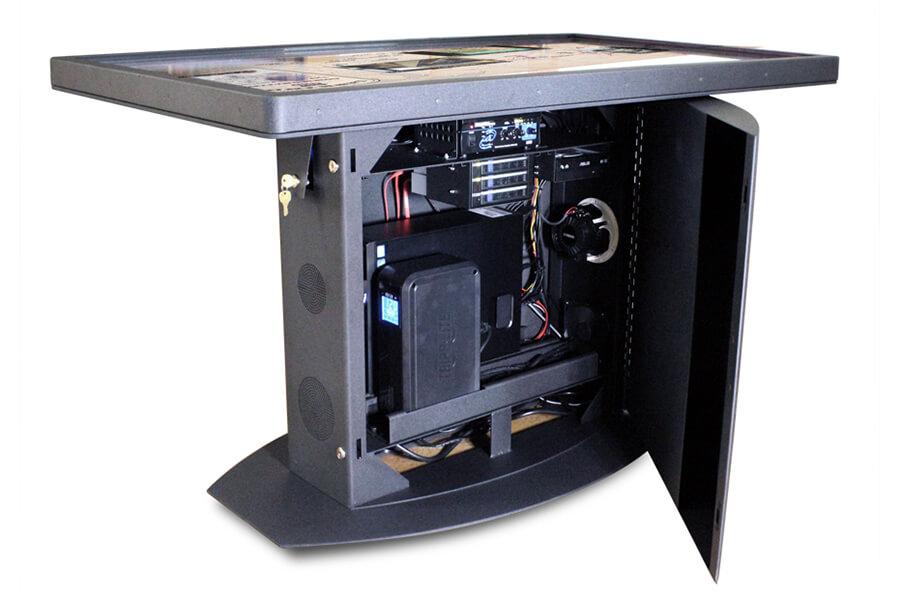 configuration informatique de pointe sur table interactive 55 pouces