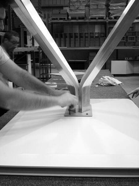 design de la table tactile 47 pouces