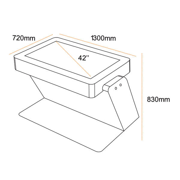 plan technique Table tactile infrarouge STYRIA
