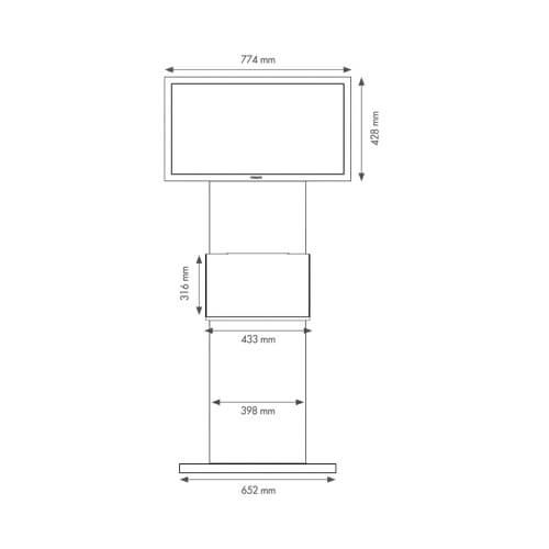 dimensions du totem écran tactile 32 pouces