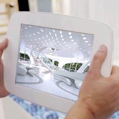 Support borne tablette iPad libre service iSelf