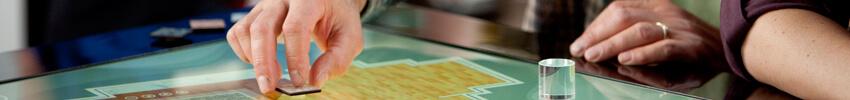 navigation tactile sur Table basse multitouch 55 pouces philips