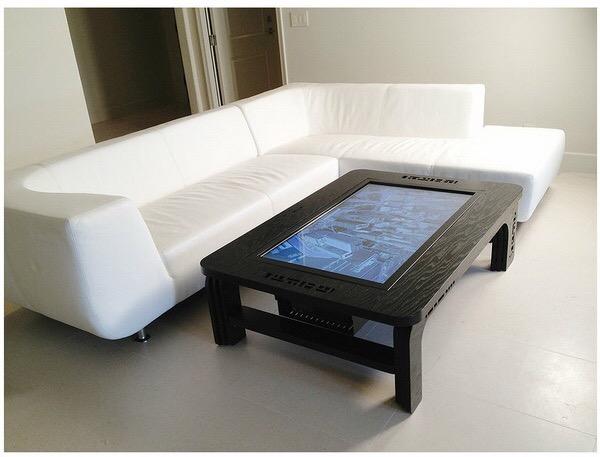 Table basse tactile en bois 42 pouces iWood réception client