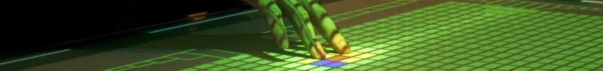 Table basse tactile en bois 42 pouces