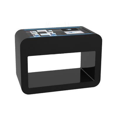 Table interactive avec écran transparent tactile iCORNER