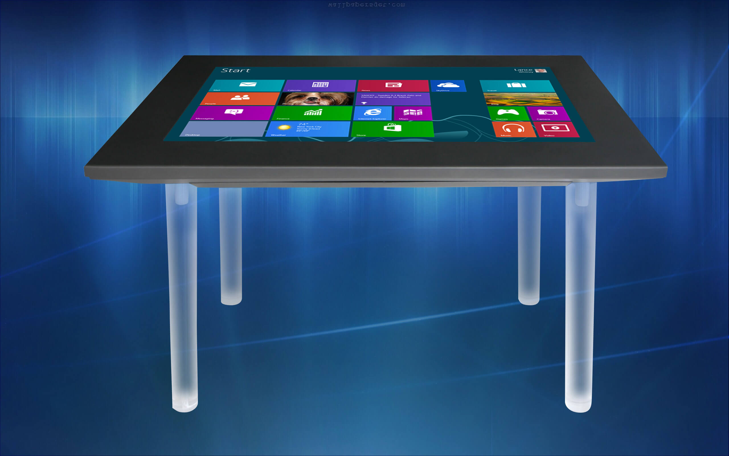 Table interactive capacitif projeté K2 écran multitouch