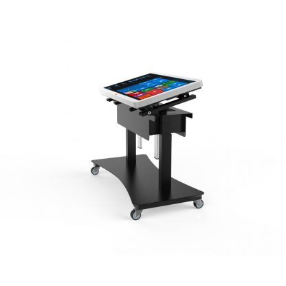 Table interactive multitouch inclinable