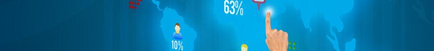 navigation tactile sur Totem interactif 65 pouces paysage GIANT
