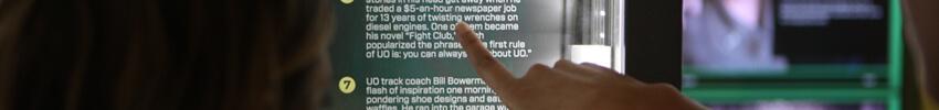 totem tactile 46 pouces avec technologie infrarouge