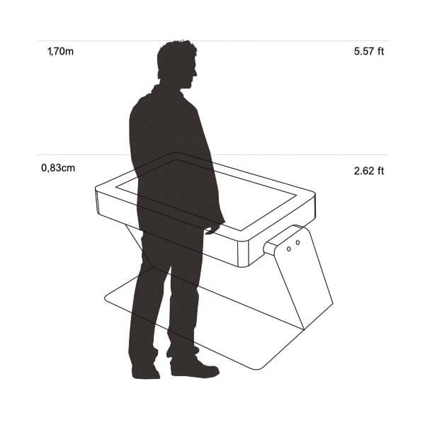utilisateur de la Table tactile infrarouge STYRIA