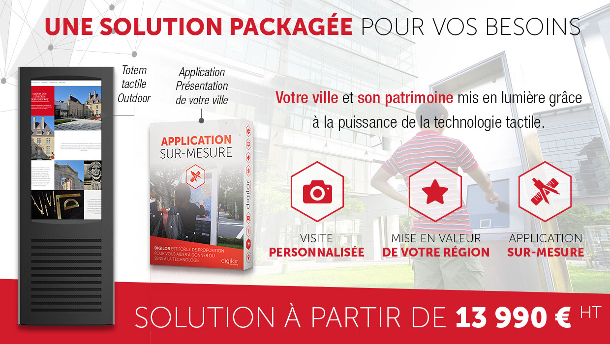 Application tactile agence tourisme