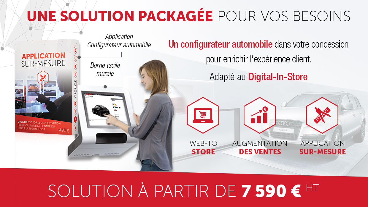 Application tactile concessionnaire automobile