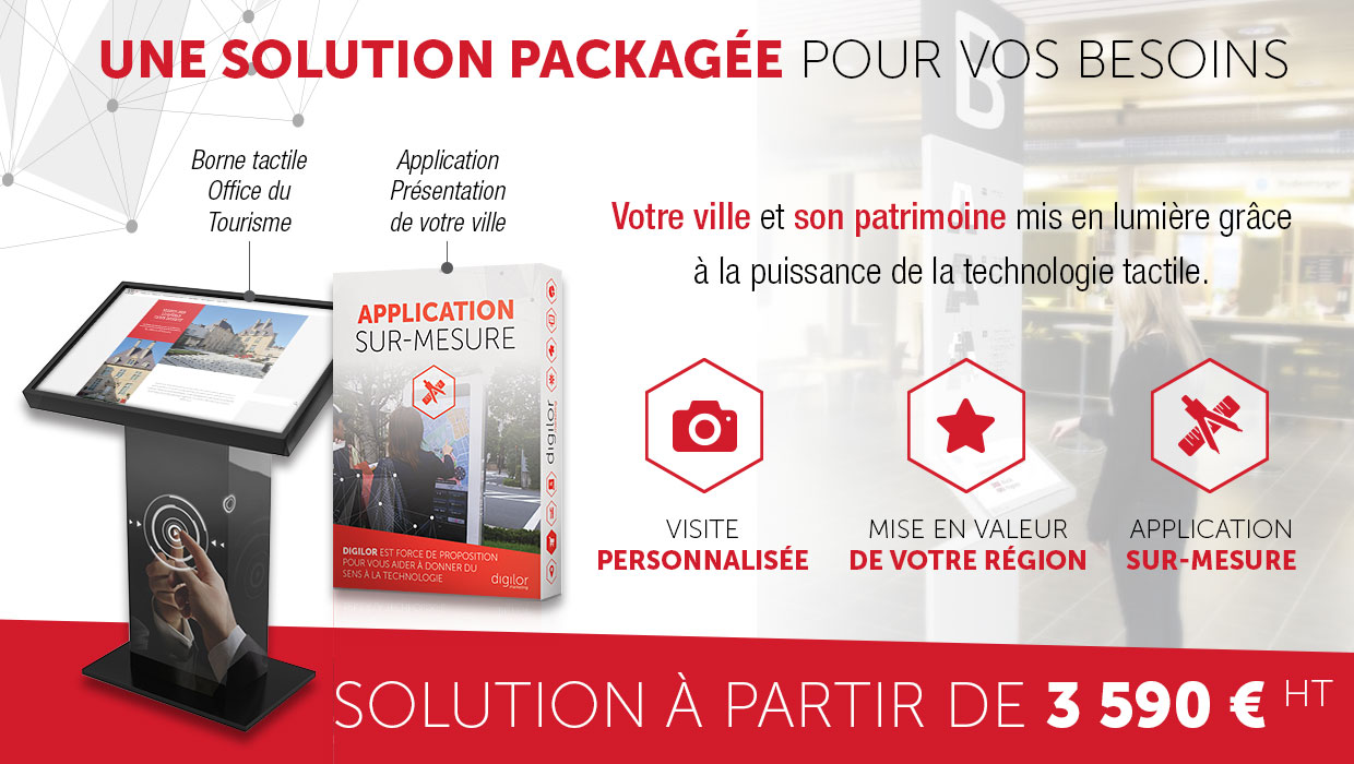 Application tactile guide touristique