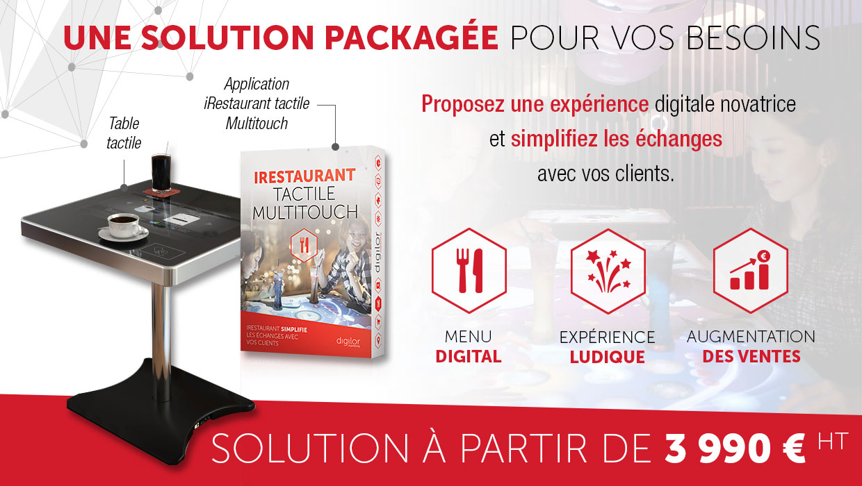 Application tactile restauration multitouch