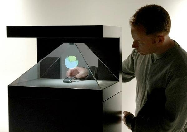borne holographique pour digitalisation du point de vente