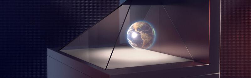 Borne holographique hologramme 3D musée