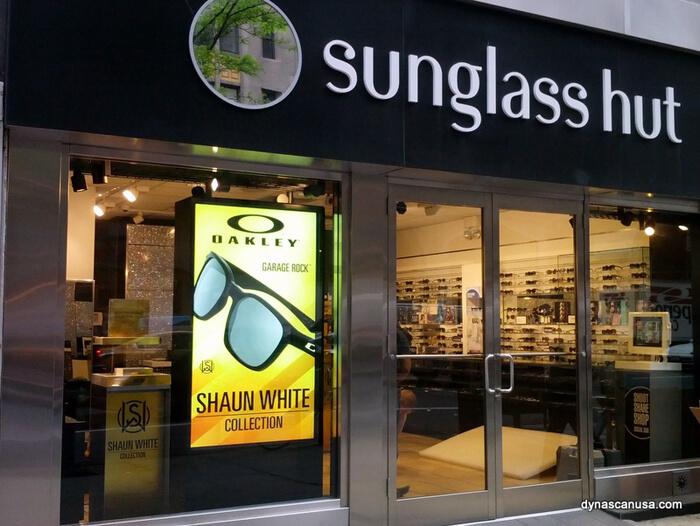 écran haute luminosité en vitrine