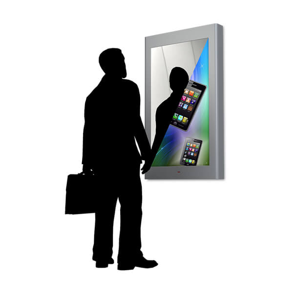 miroir interactif magique marketing digital sur point de vente