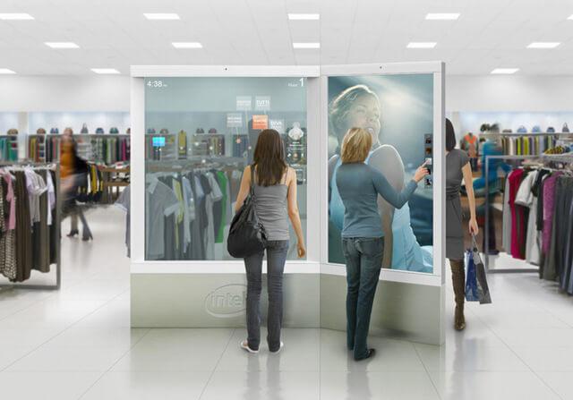 miroir interactif expérience d'achat connectée