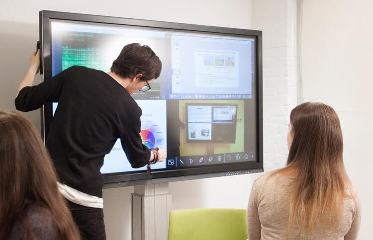 partage d'écrans via Wifi travail collaboratif