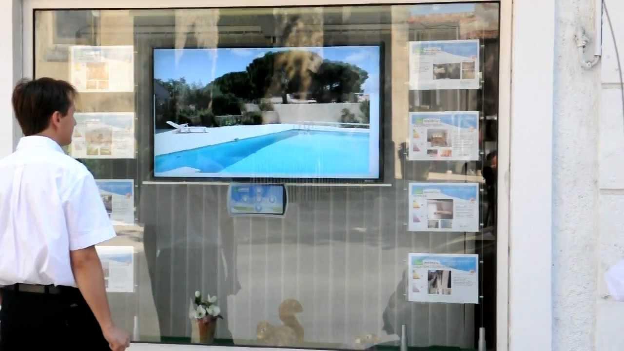 Solutions digitales vitrine immobilier