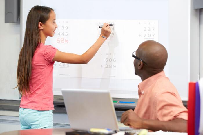 tableau blanc interactif pour l'enseignement