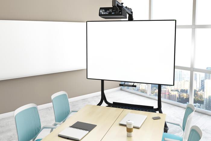 tableau blanc interactif pour le travail collaboratif