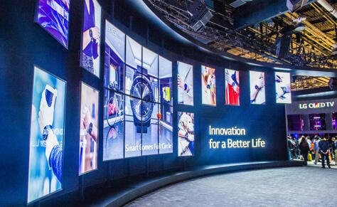 mur d'images écrans LG
