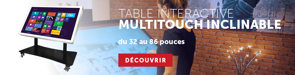 table interactive inclinable tactile