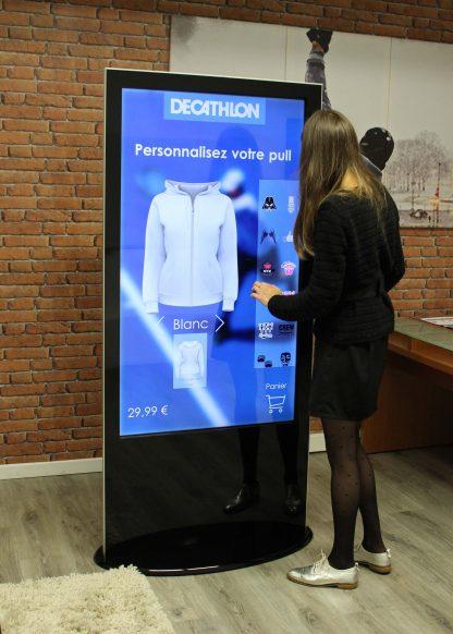 Totem digital interactif 50 pouces