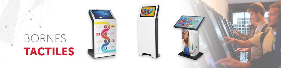 borne tactile interactive digitale