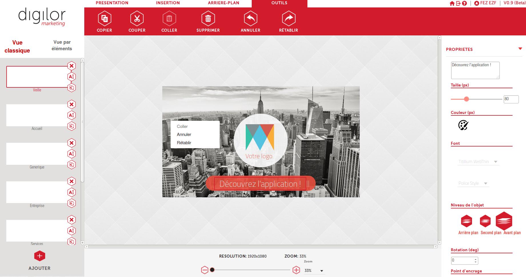 Digilor Cloud présentation visuelle personnalisée